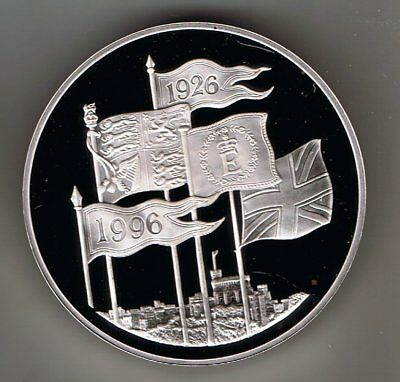 1996 SILVER PROOF five pound £5 crown coin - 28.3g : Queen's 70th birthday