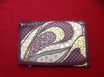 NWOT Thirty-One Fold-and-Go Notepad Folio Organizer Plum Paisley   FREE SHIPPING