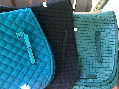 Great Lot Of All Purpose English Saddle Pads! Dover Toklat Passport Cool Colors!