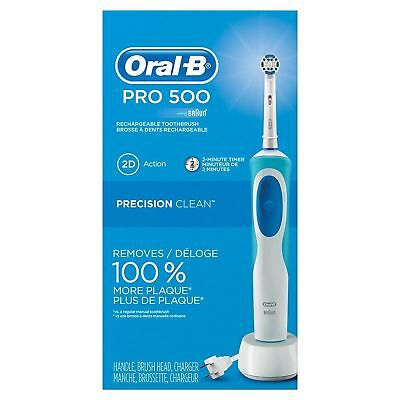 Braun Oral B Pro 500 Rechargeable Toothbrush  Precision Clean