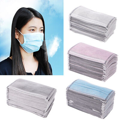 50 Pcs Disposable Surgical Dust Face Mouth Masks 4 Layers With Activated Carbon