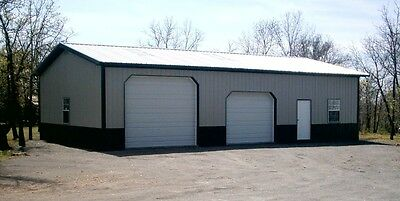 Pole Barn 30X60 W/ Overhangs Full Material List How-To Plan E-File As Pdf - Word