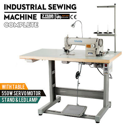 Sewing Machine with Table +Servo Motor +Stand &LED Lamp  Industrial 550W Manual