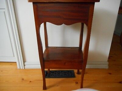Vintage solid wood stand with draw and a little flip up compartment