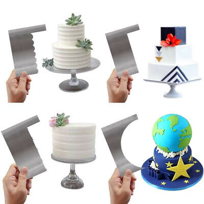 8 Design Plastic Cake Decor Spatula Pastry Comb Scraper Smoother Decoration Tool