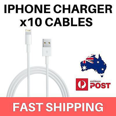 BULK 10 Pack - iPhone Charging Data Cable / Phone Charger Data Sync Cable