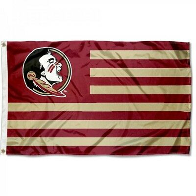 Florida State Seminoles Flag 3'X5' Ncaa Fsu Striped Banner: Fast Free Shipping