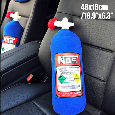 NOS Nitrous Oxide Bottle Tank Pillow Plush Cushion Decor Headrest for Car Travel
