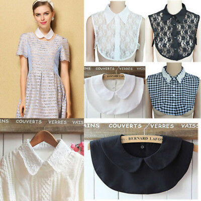 Fake Collar Lapel Shirt Necklace Women False Detachable Peter Pan Lace Gift