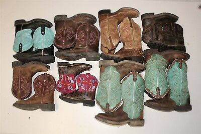 Justin and Ariat Cowboy USED REHAB Lot Boots Wholesale aTcO
