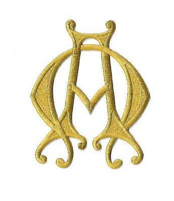 Alpha Omega - Christian - Liturgical - Vestment - Embroidered Iron On Patch 2883