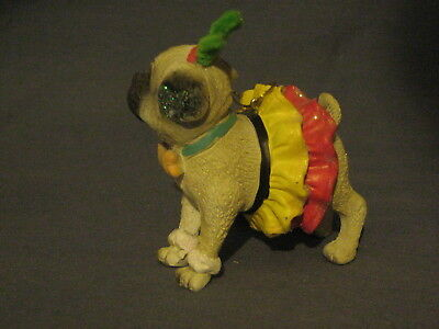 18 Pug In A Skirt Ornament