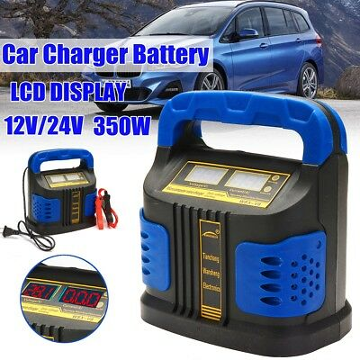 400W AUTO Plus Adjust LCD Car Battery Charger 12V-24V Caravan Motorcycle AU