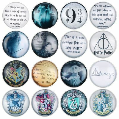 25mm Harry Potter Button Badges Pin Brooch Deathly Hallows Ravenclaw Collectable
