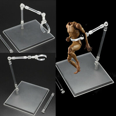 7'' Clear 1/6 Scale Action Figure Base Toy Model Chuck Bracket Stand Display