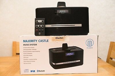 Majority Castle Digital DAB Radio CD Bluetooth USB (PLEASE READ DESCRIPTION)
