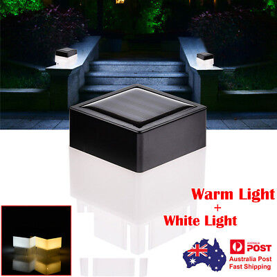 Outdoor Solar Powered Fence Post LED Square Lights Garden Lawn Waterproof Lamp