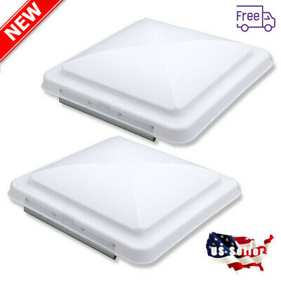 "2pcs 14X14"" RV Roof Vent Cover Universal Replacement Vent Lid For Camper Trailer"