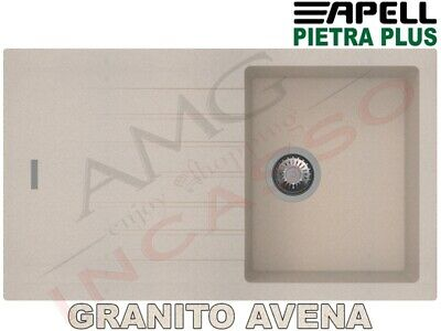 Lavello Fragranite Incasso New Pietra Plus 1 Vasca cm.86X50 Granito Avena
