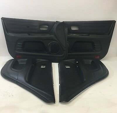 2001-2005 OEM Lexus IS300 Door Panels Black Alcantara Fronts & Rears |R5311