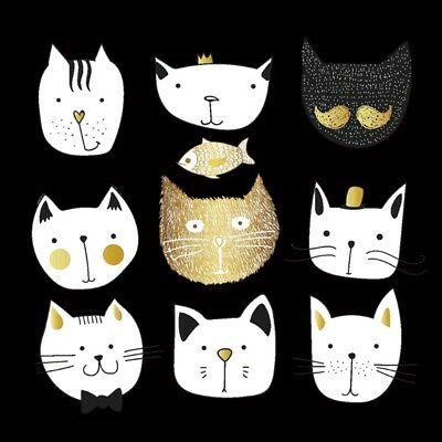 Cute Cat Patches T-shirt Press Heat Transfer Sticker Iron On Appliques Decor