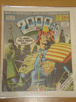 2000Ad #403 British Weekly Comic Judge Dredd *