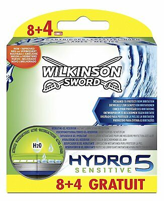 12 Wilkinson Hydro 5 Sensitive Rasierklingen