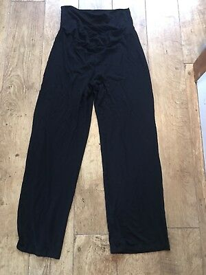 Maternity Cotton Trousers Black Leggings Blooming Marvellous Size 12