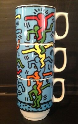 Keith HARING Série 3 Mug Stack-Men Konitz Germany Porcelaine état neuf