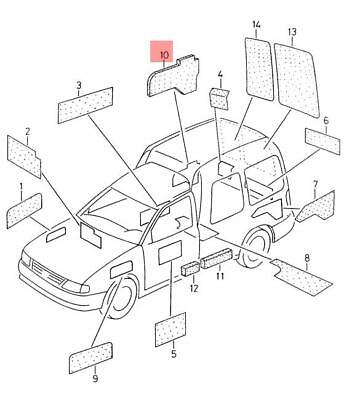 Genuine Vw Seat Caddy Van Inca Side Member Right 6k9809416b
