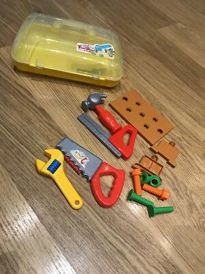 Tool kit Tools Nuts Bolts Work Bench Carry-case / Portable Box Children Kids