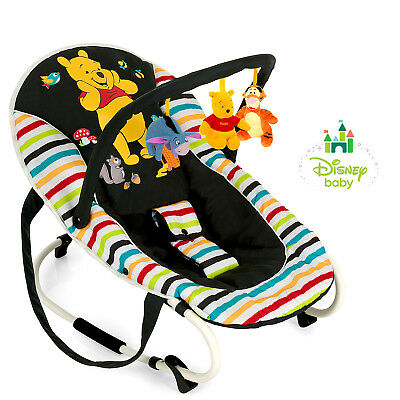Hauck Disney Pooh Tidy Time Bungee Deluxe Baby Bouncer Rocker Chair & Toy Bar