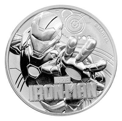 2018 Tuvalu Iron Man 1 oz Silver Marvel Series $1 Coin GEM BU SKU53468