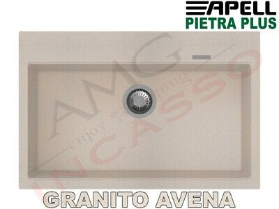 Lavello Fragranite PTPL780GO New Pietra Plus 1 Vasca cm.78X51 Granito Avena