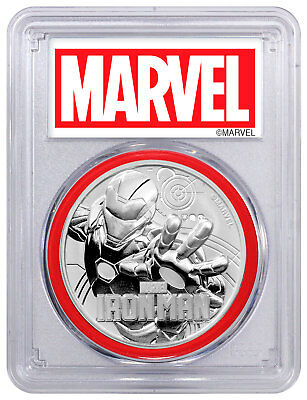 2018 Tuvalu Iron Man 1 oz Silver Marvel Series PCGS MS69 FS Red Gasket SKU53477