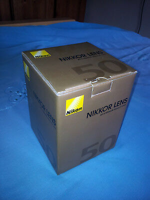 BOX ONLY Nikon NIKKOR LENS AF-5 50MM f/1.4G BOX ONLY