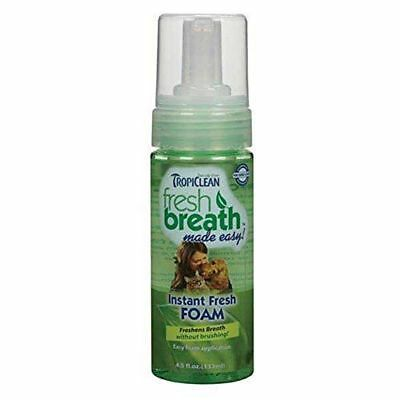 Tropiclean FRESH BREATH FOAM No Brushing! Fresh Cleans Natural Healthy