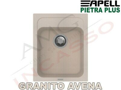 Lavello Fragranite Incasso New Pietra Plus 1 Vasca cm.40X50 Granito Avena