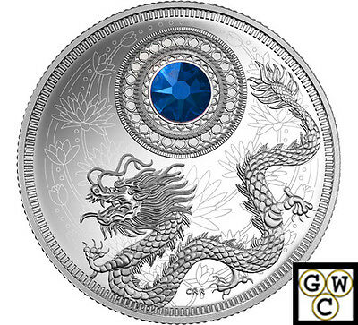 2016 September-Birthstones Crystal Prf $5 Silver Coin1/4oz .9999 Fine(NT)(17736)