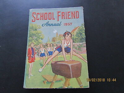 The  School  Friend Girls  Annual  1957  Very Good For  Age