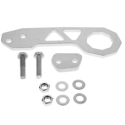 Easy Install Anodized Billet Racing Rear Tow Towing Hook Kit CNC silver