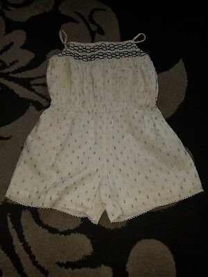 girls strappy trendy lovely short playsuit age 4-5 years from m&s
