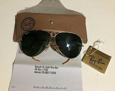 Ray Ban shooter aviator vintage Bausch & Lomb