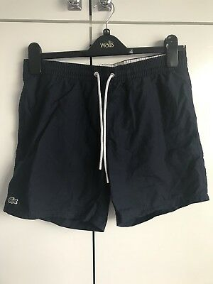 MENS Lacoste Swim Shorts Size Small S Navy Blue