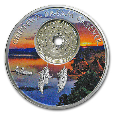 2018 1 oz Silver Mesa Grande Chippewa Dream Catcher - SKU#167831