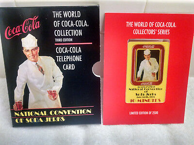 Coca-Cola National Convention of SODA JERKS-Phone card LE in folder EXTRA NICE
