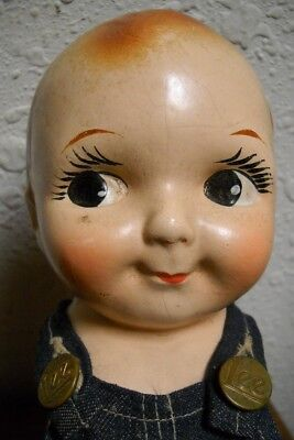 Vintage Composition Buddy Lee Doll with Lee Jeans