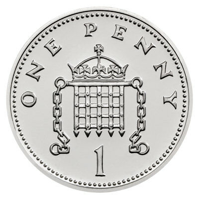2018 Great Britain Royal Birth Silver 1 Penny Coin GEM BU in OGP SKU53534