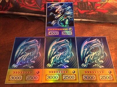 Yu Gi Oh! 3 X DRAGO BIANCO OCCHI BLU ORICA BLUE EYES WHITE DRAGON FINALE