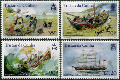 Tristan DaCunha. 2015. The Lifeboat Disaster (MNH OG) Set of 4 stamps